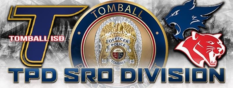 Tomball Police Department SRO Division Tomball ISD image with Cougar and Wildcat logos